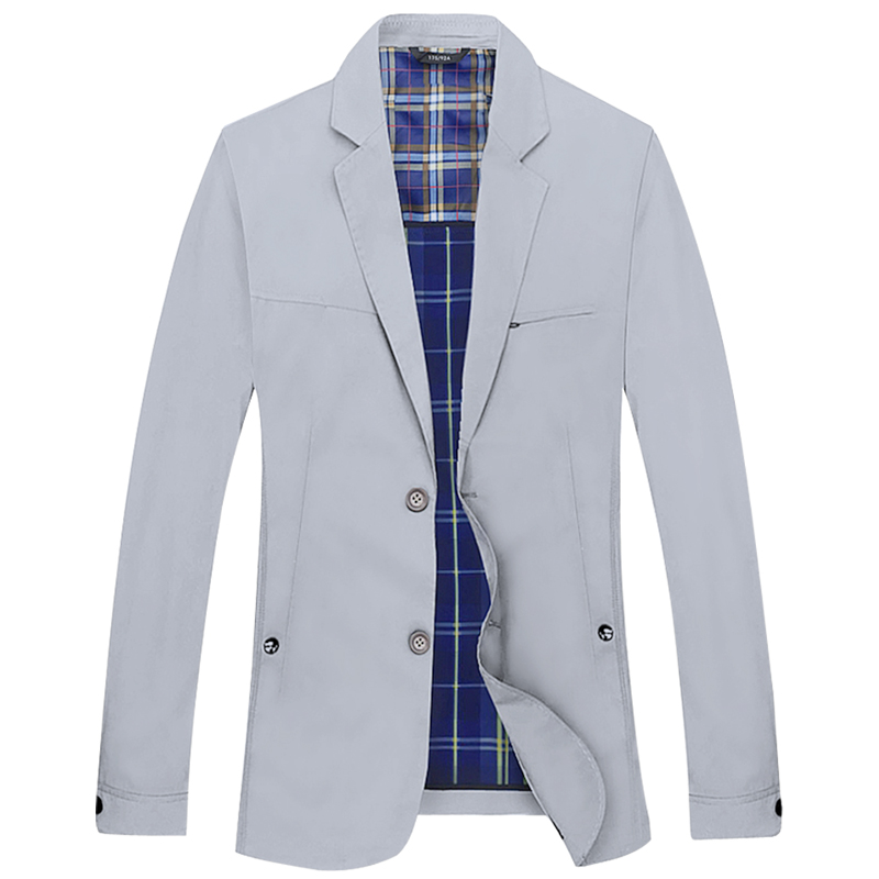 Spring and autumn thin young mens Korean leisure suit business casual suit light suit one piece light coat