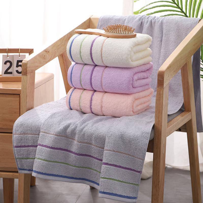 沐凡竹纤维浴巾成人男女竹炭婴儿童洗澡吸水大浴巾家用加厚大毛巾