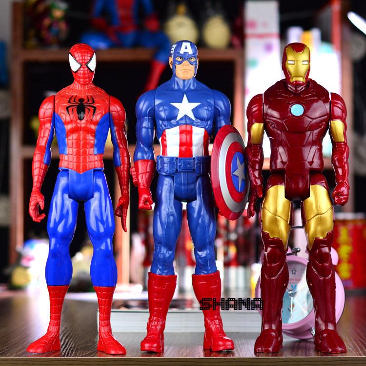 Ребенок сокровище мстители альянс превышать все паук железный человек капитан америка 2 игрушка кукла движимое рука сделать модель