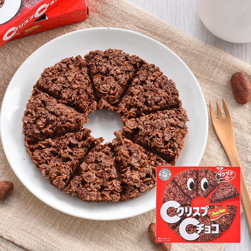 日本进口零食 日清思高CISCO 巧克力麦脆批威化饼干 薄脆饼干50g图片