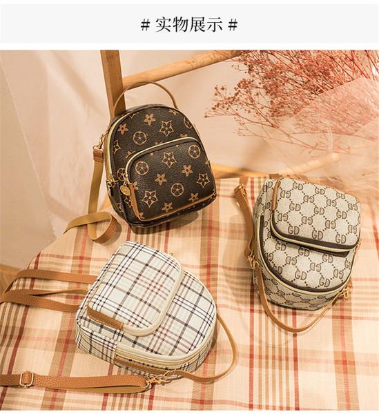 RS9624#礼品包包现货日韩个性女包休闲格子背包手提单肩包