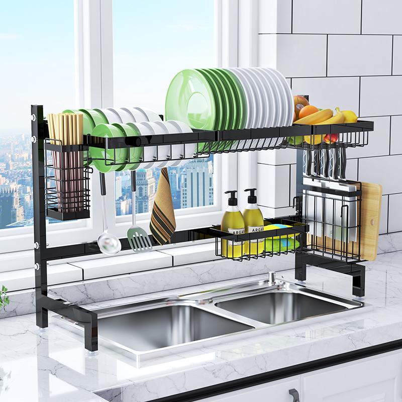 厨房水槽不锈钢晾放碗碟筷盘沥水架(用50元券)