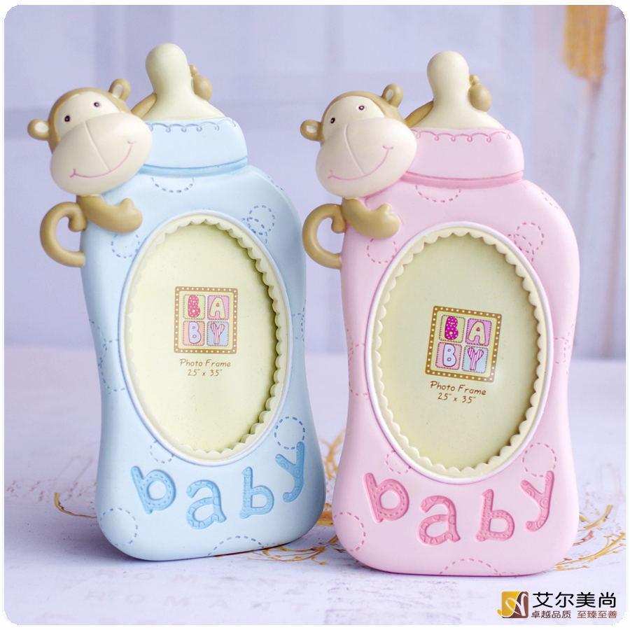 宝宝相框摆台3寸5寸三卡通相架婴儿百天小相片可爱创意儿童照片框