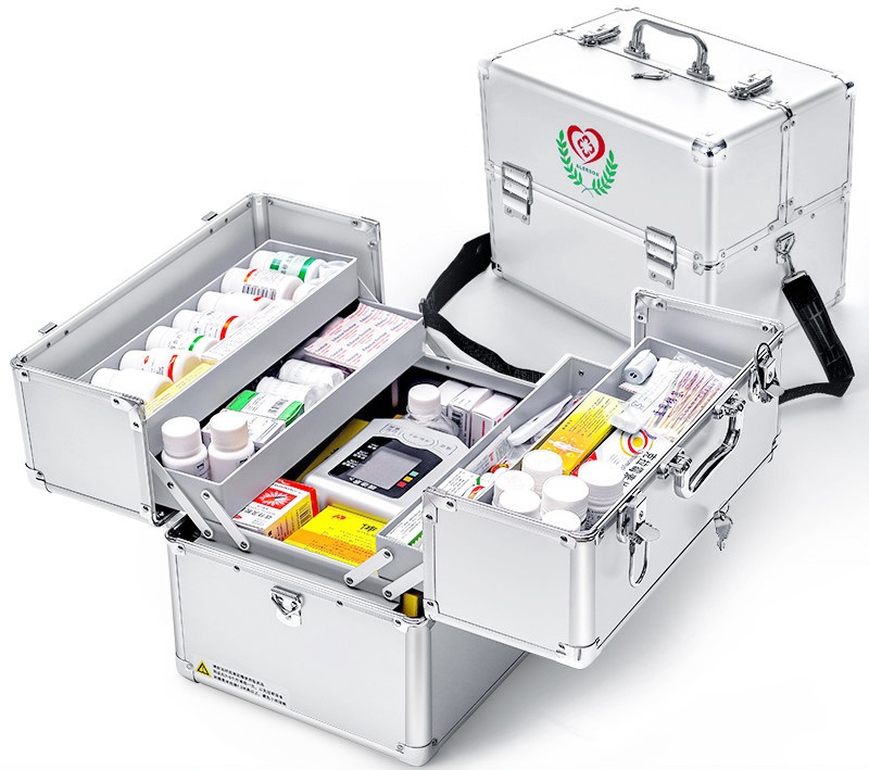 Multi layer emergency 120 supplies medicine box doctors call box small family multifunctional medical box