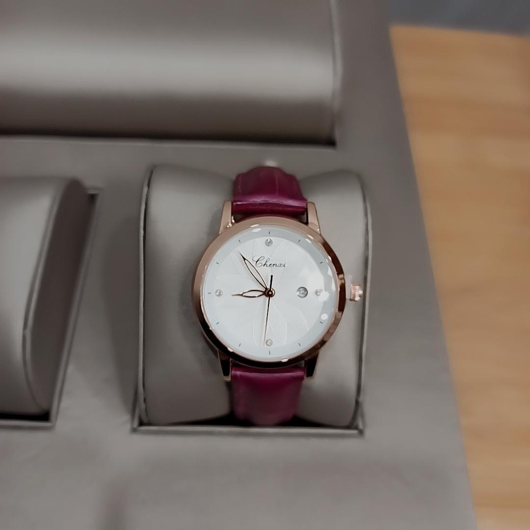 chenxi皮带时尚简约女款石英手表