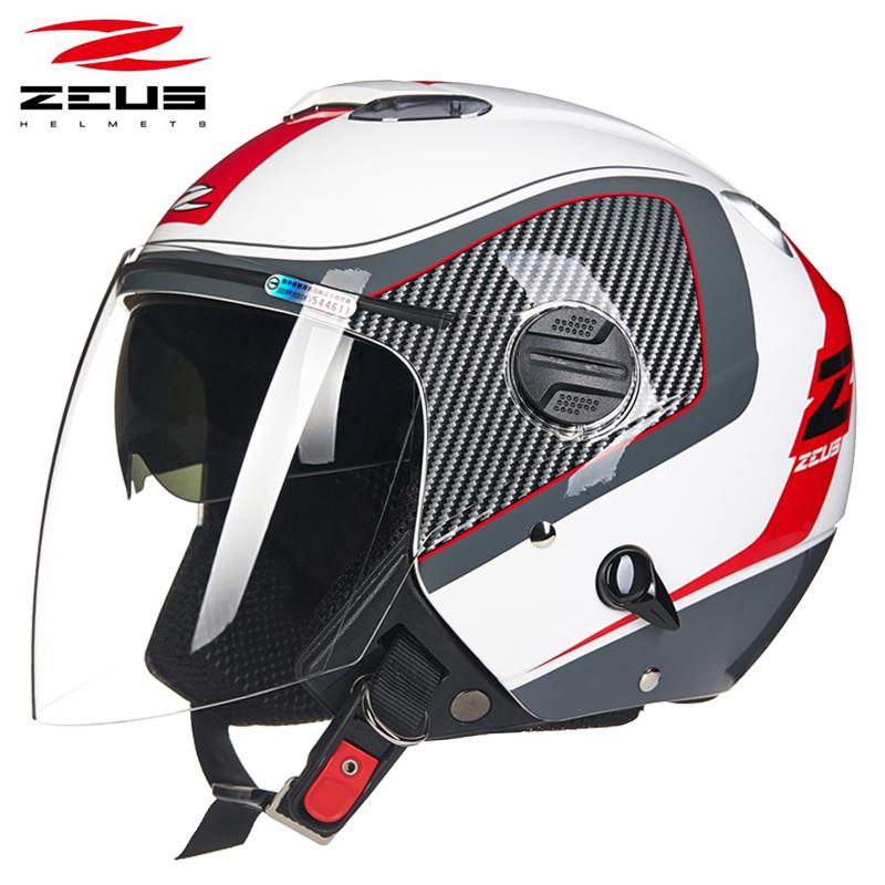 台湾瑞狮头盔半盔男摩托车双镜片四季通用半覆式大码安全帽女夏季