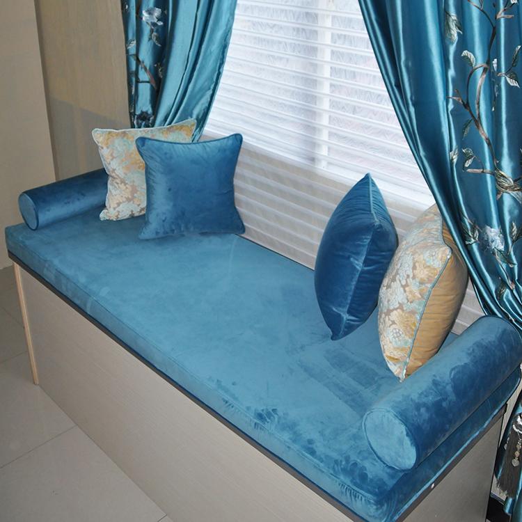 高密度海绵丝绒飘窗垫定做窗台垫子榻榻米沙发垫床椅垫加硬厚订制
