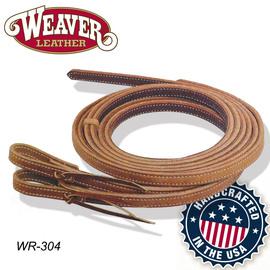 美国进口Weaver西式长缰绳 加厚加重双色马缰绳缰鞭 西部巨人马具