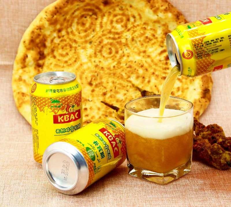 新疆伊蜂源卡瓦斯天然蜂蜜发酵传统格瓦斯饮料300ml/罐500ml/罐装