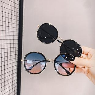 潮2019新款 ins街拍墨镜韩版 复古圆多边形太阳镜女小框眼睛 网红款
