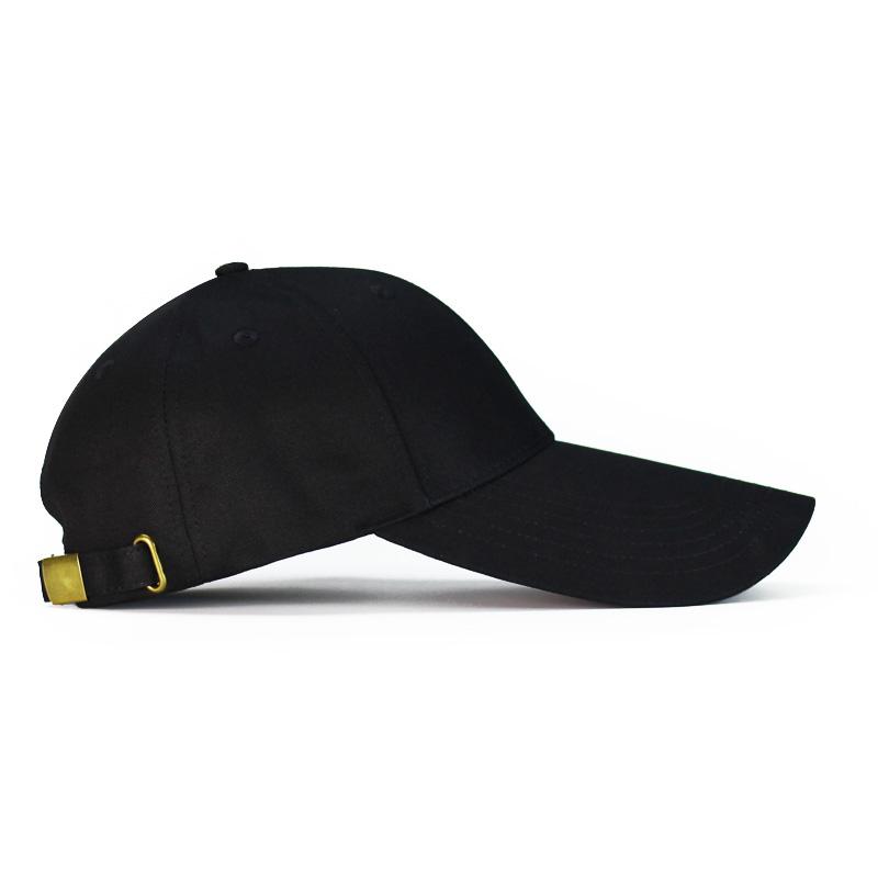 加长帽檐全棉黑色韩版潮鸭舌帽子限5000张券