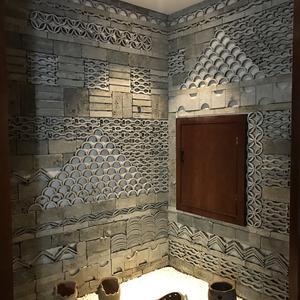 仿古砖瓦片青砖切片小瓦片立瓦网红直播个性创意背景墙青瓦墙复