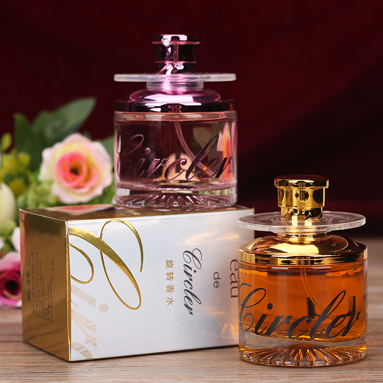 Package 2099 rotary perfume, mens revolving perfume, golden pink 50ml, lasting and fresh.
