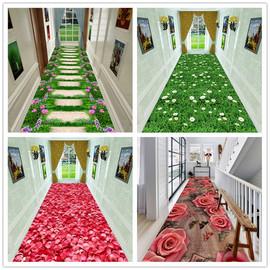 3D可定制水洗防滑走廊过道地毯客厅卧室满铺地毯进门玄关长方形垫