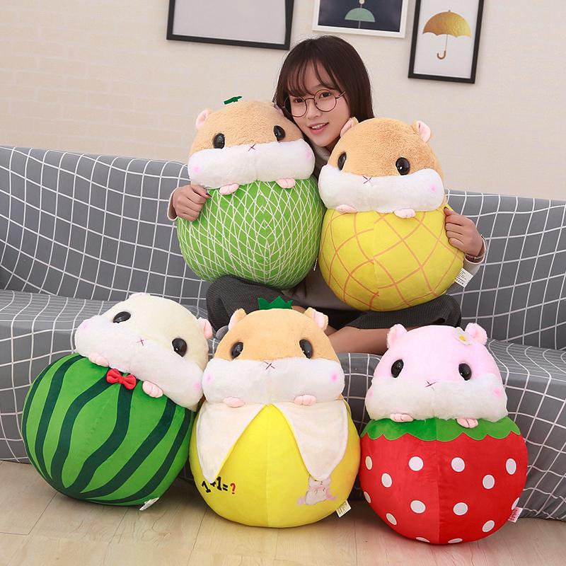 Корея плюш игрушка хомячки кукла подушка милый маленький побег мышь держать частица континиуса ложиться спать из кукла девочки день подарок