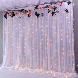 婚礼背景布幔舞台幕布生日场景布置直播美容院装饰结婚婚庆纱幔