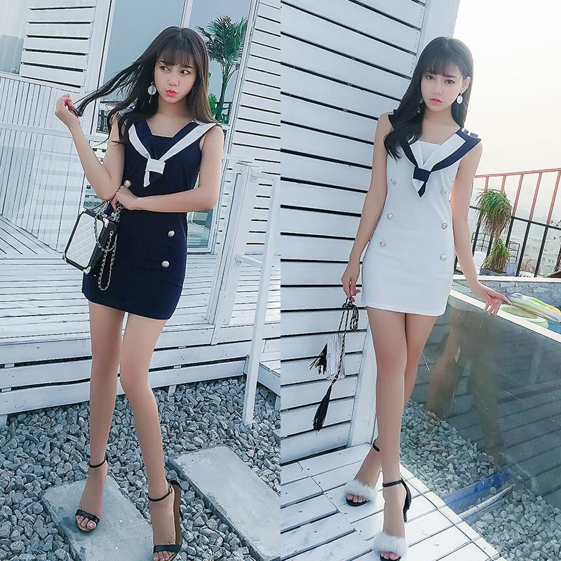 清纯网络甜美yy主播直播衣服装上镜学生美女装夜店性感可爱连衣裙