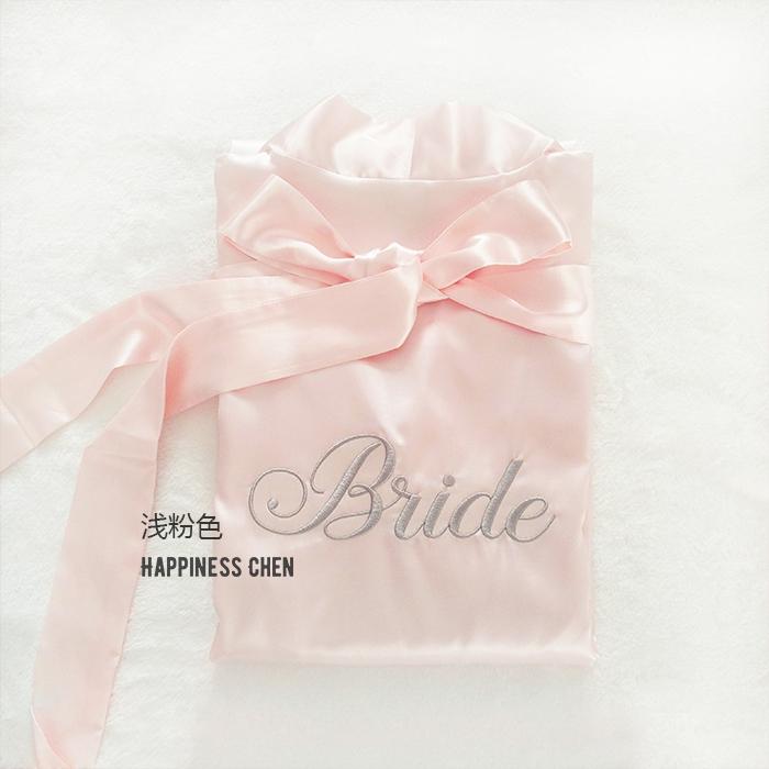 Чэн счастье розовый Baby pink невеста Bride/ подружка невесты вышивка горячее бурение составить утро платье сделанный на заказ