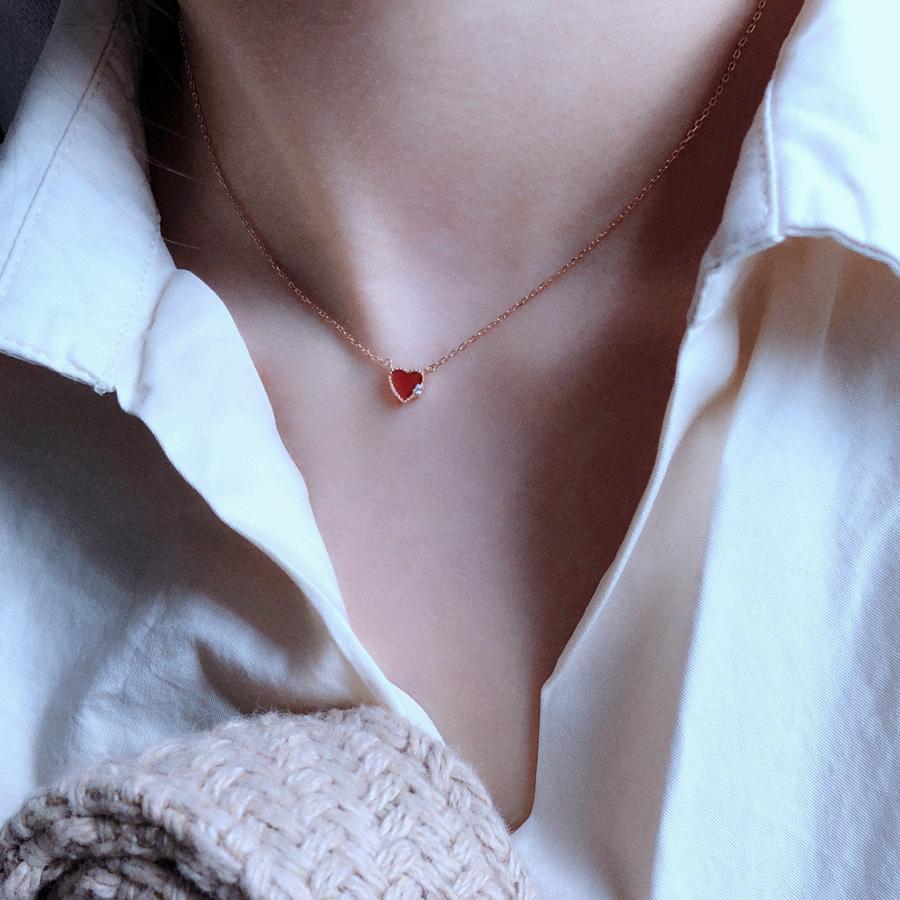 [Tyusha Design轻珠宝独家设计项链]TYUSHA设计S925纯银镀玫瑰金月销量382件仅售85元
