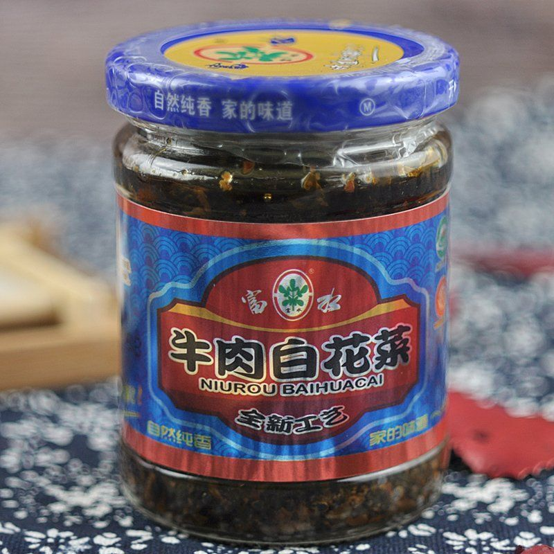 Broccoli, a specialty of Anlu, Hubei, fresh beef, spicy, Jingshan Fushui, dried broccoli, ready to eat
