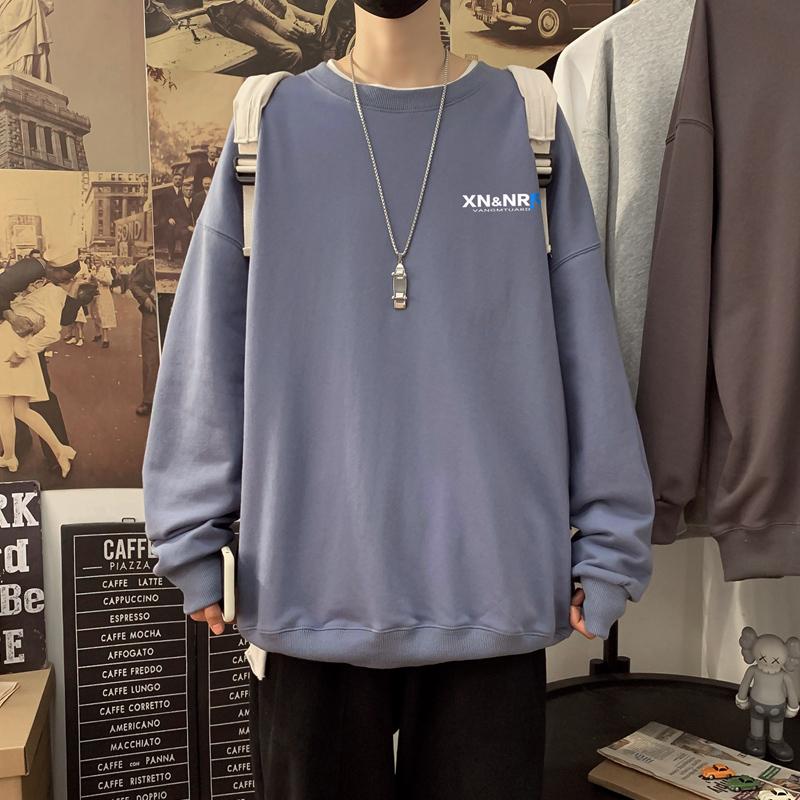 S-5XL �L袖T恤男士春季新款潮流�A�I��松大�a港�L男�l手套衣 W402-P35
