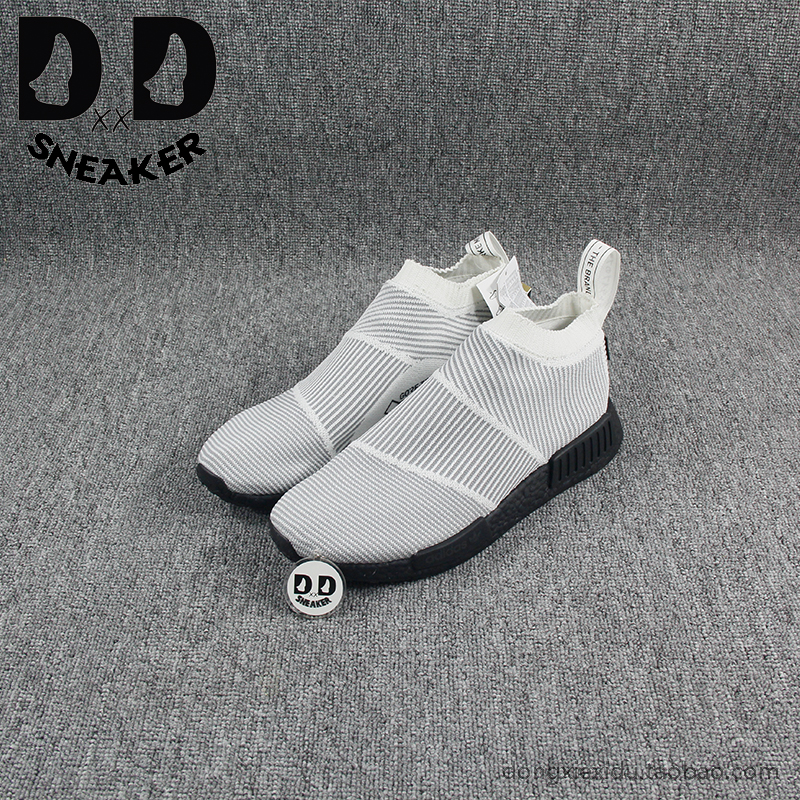 �F�Adidas NMD CS1 City Sock GTX 黑白�l�y防水�m套跑鞋 BY9404