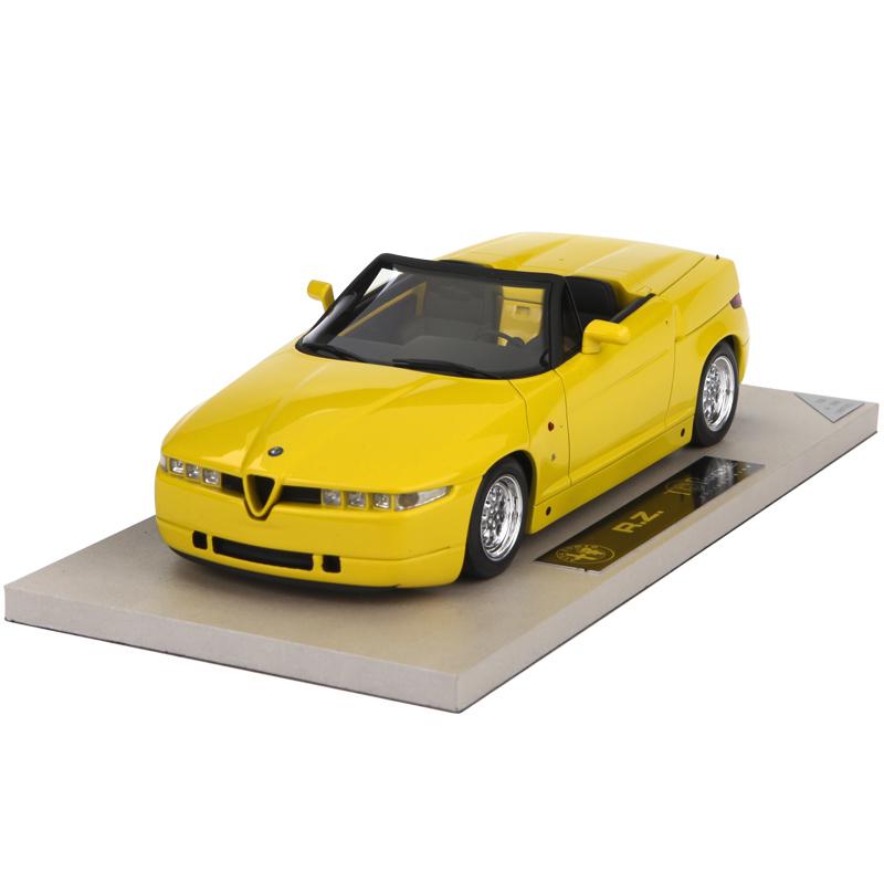 BBR TOP 1:18高端仿真汽车模型阿尔法罗密欧RZ经典老爷车黄色模型