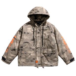 bjhg冬季战术工装男潮日系沙漠夹克