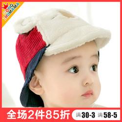 婴儿帽子0-3-6-12月秋冬季男童女宝宝鸭舌帽婴幼儿棒球帽可爱超萌