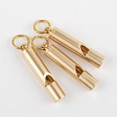 复古风纯黄铜口哨手工黄铜口哨钥匙扣挂件裁判儿童玩具户外求生哨