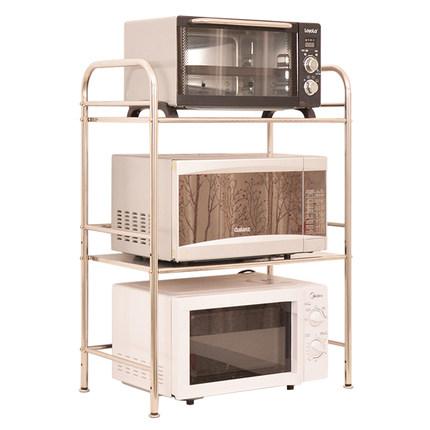 加厚304不锈钢微波炉台面厨房架子