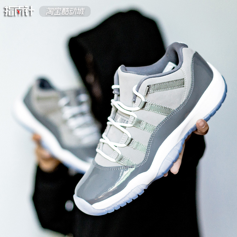 AIR JORDAN 11 LOW COOL GREY AJ11酷灰低帮 528895-528896-003