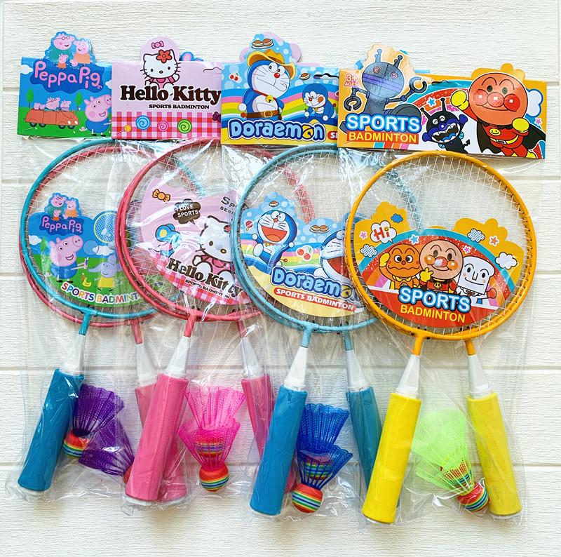Export childrens badminton racket Japanese bread Superman cartoon sports leisure outdoor parent child training interactive toys