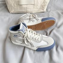 高帮男鞋子潮鞋ins秋季新款高邦帆布鞋男生韩版百搭港风chic板鞋