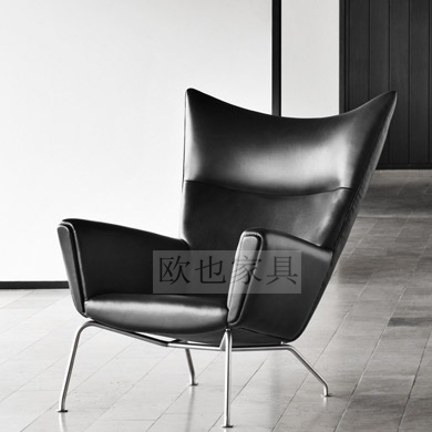 Nordic sofa chair Italian designer living room leisure chair single leather tiger chair wing chair sky wing chair