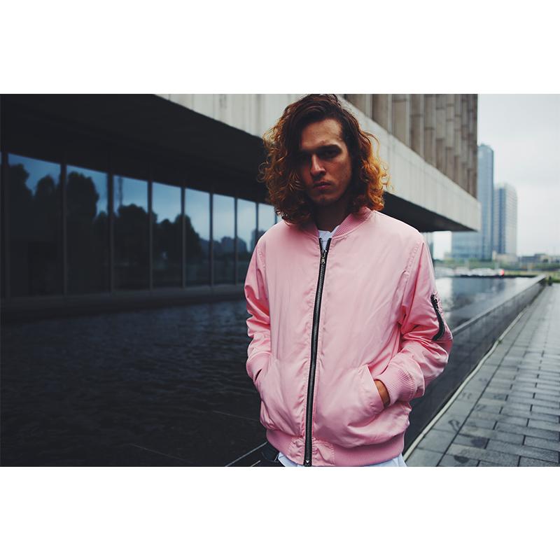 Get cozy lost sleep Air Force pilot jacket autumn winter zipper jacket light pink