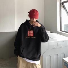 B327-W01-P60 秋冬新款男休閑連帽衛衣港風ins潮流帽衫學生上衣