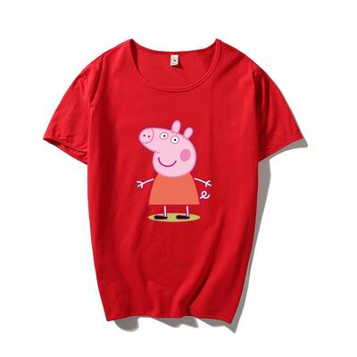 101C-3-T801-P25小猪佩奇社会人T恤 圆领纯棉