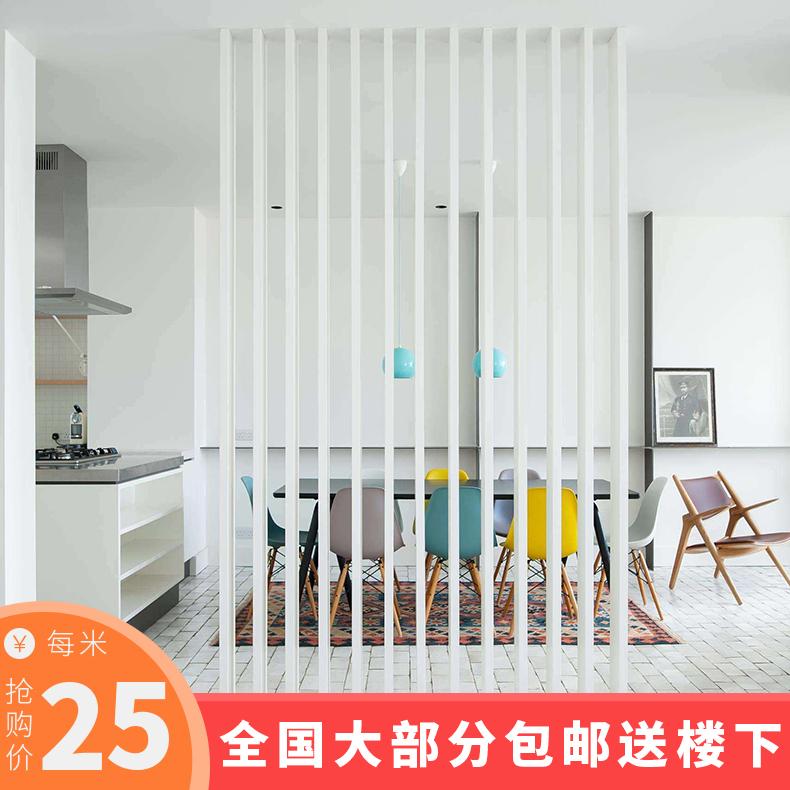 Креативная полосатый Деревянная перегородка панель Полый потолок деревянная решетка гостиная ТВ фон стена вход экран