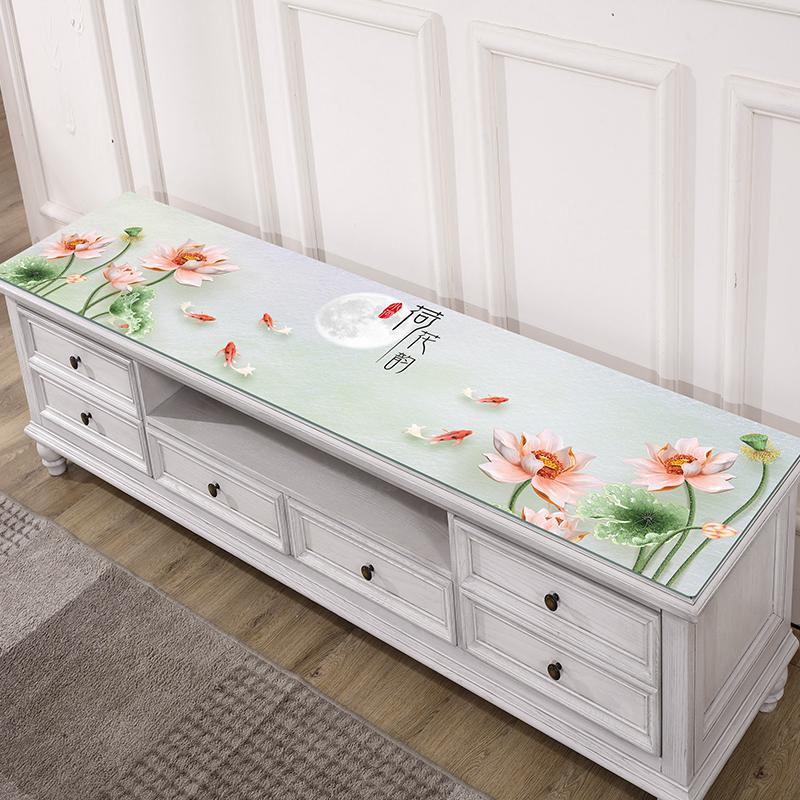 正品保证3D印花电视柜桌布防水长方形pvc软塑料玻璃水晶板茶几垫桌垫盖布