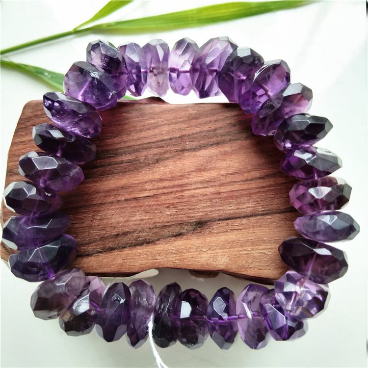 Amethyst irregular bracelet to protect the truth Natural Amethyst Bracelet polyhedral Amethyst Bracelet