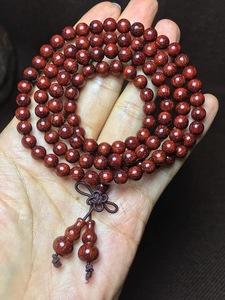 精品,印度小叶紫檀0.6女士佛珠多层手链,爆满金星,高油密