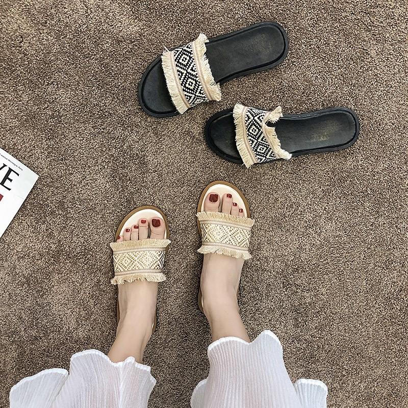 拖鞋女夏外穿2019夏季新款韩版百搭一字拖时尚女士网红鞋拖ins潮热销0件正品保证
