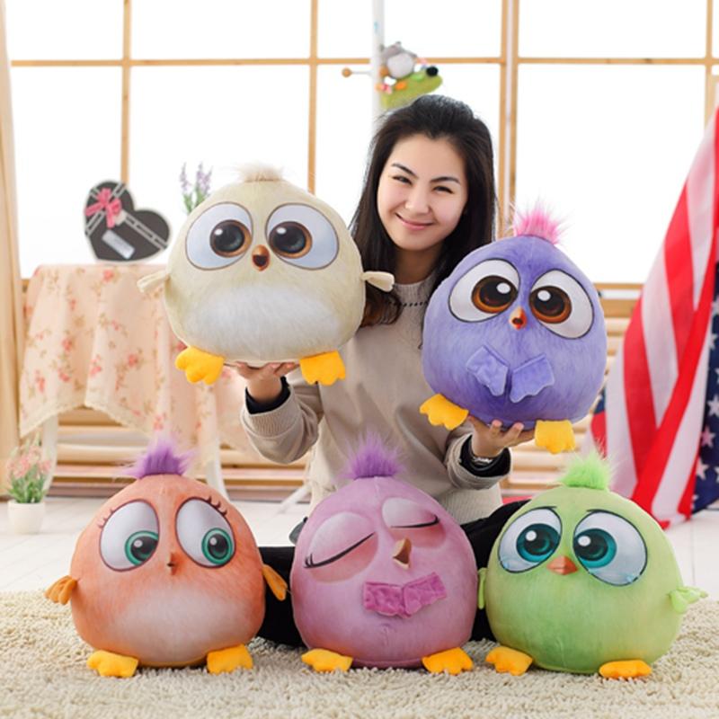 包邮3D愤怒可爱的五色小鸟大电影毛绒玩具公仔抱枕车用毯空调毯女