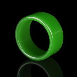 天然新疆和田玉碧玉戒指指环扳指菠菜绿男女款尾戒对戒玉指环