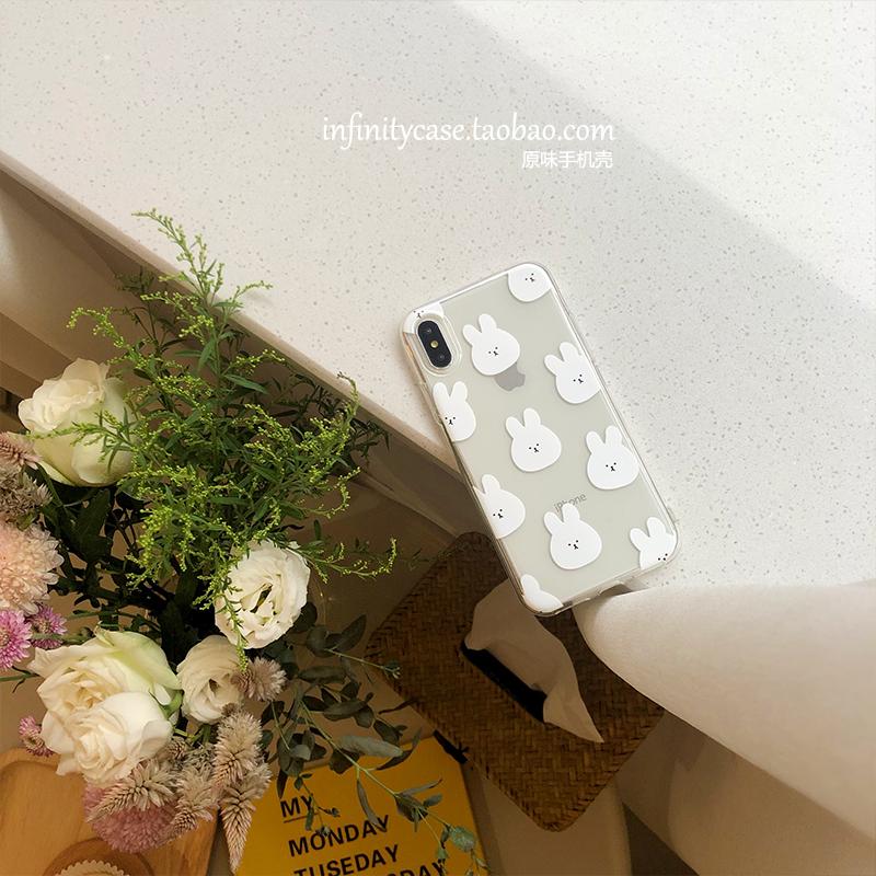 10-15新券韩国ins同款可爱兔子iPhoneXSMAX/XR/78PLUS华为nove5p