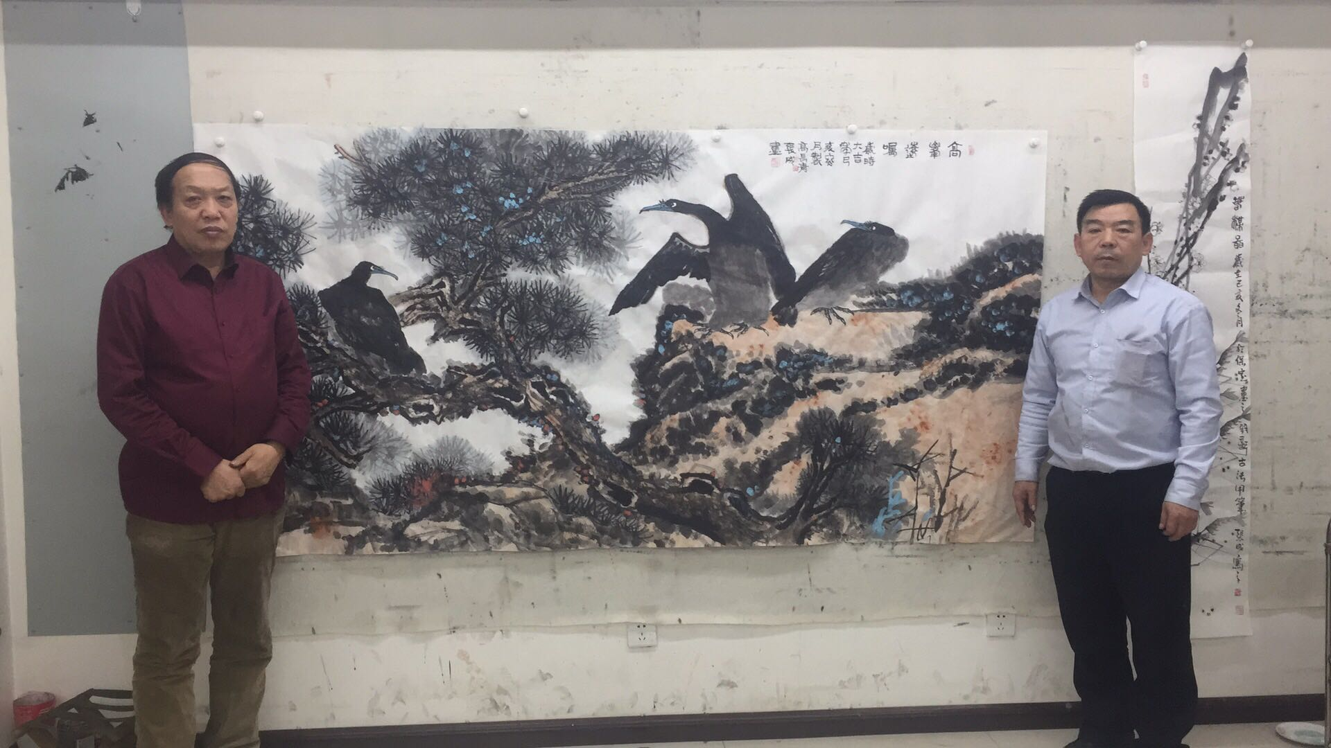 Zhang Cheng, a famous painter, and Gao Changqing, a famous painter, are far away from the peak of their joint creation