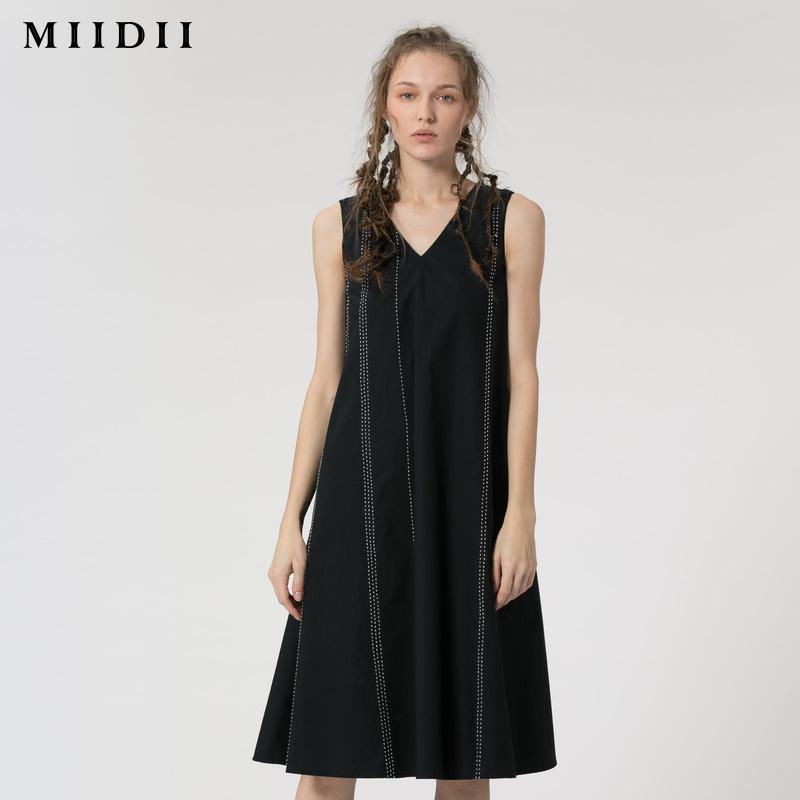 �i底2018夏�b新款商�鐾�款���A型V�I�棉背心�B衣裙182ML0079