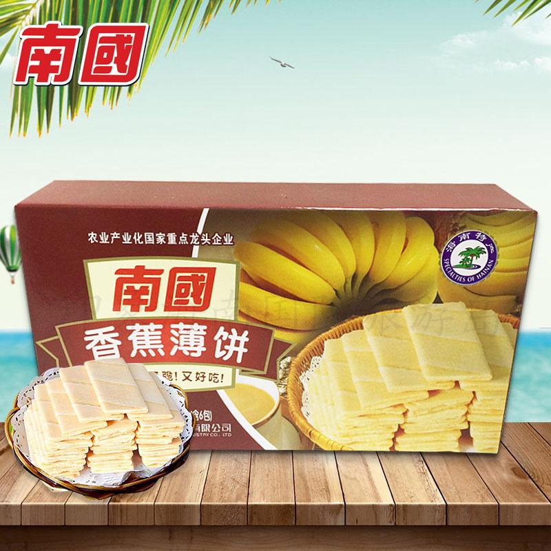 南��食品海南特�a 椰香薄�80g香脆零食甜咸味香蕉榴�多口味�干