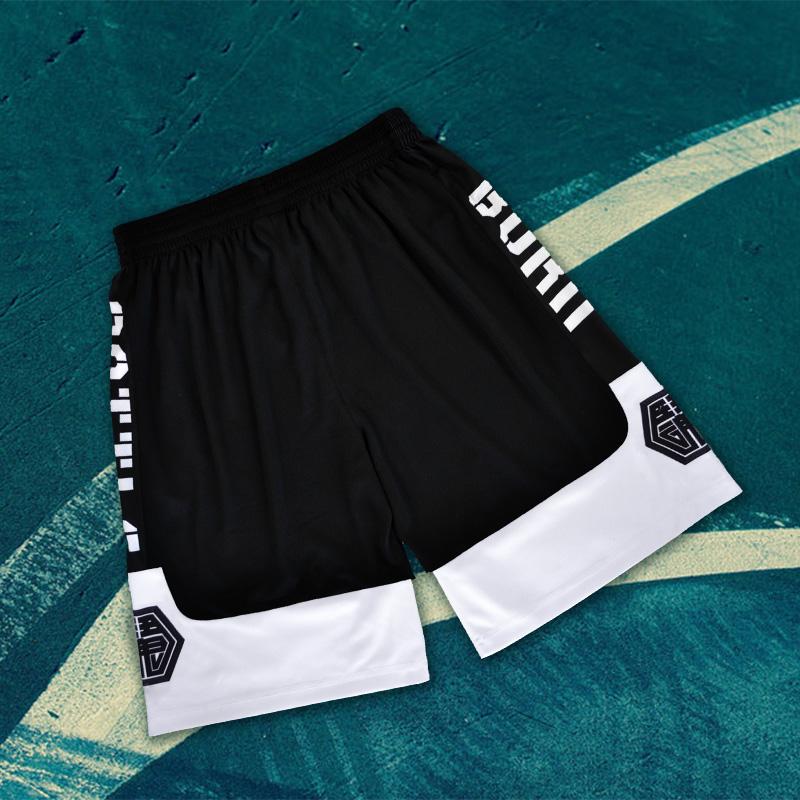 SD日落东单街头篮球裤定制篮球短裤街球男运动训练热身运动裤订做